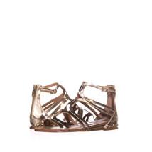 Steve Madden Delta Flat Gladiator Sandals 743, Gold Metallic, 5.5 US - $28.79