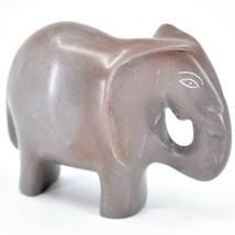 Crafts Caravan Hand Carved Natural Dove Gray Soapstone Elephant Figurine Kenya image 1