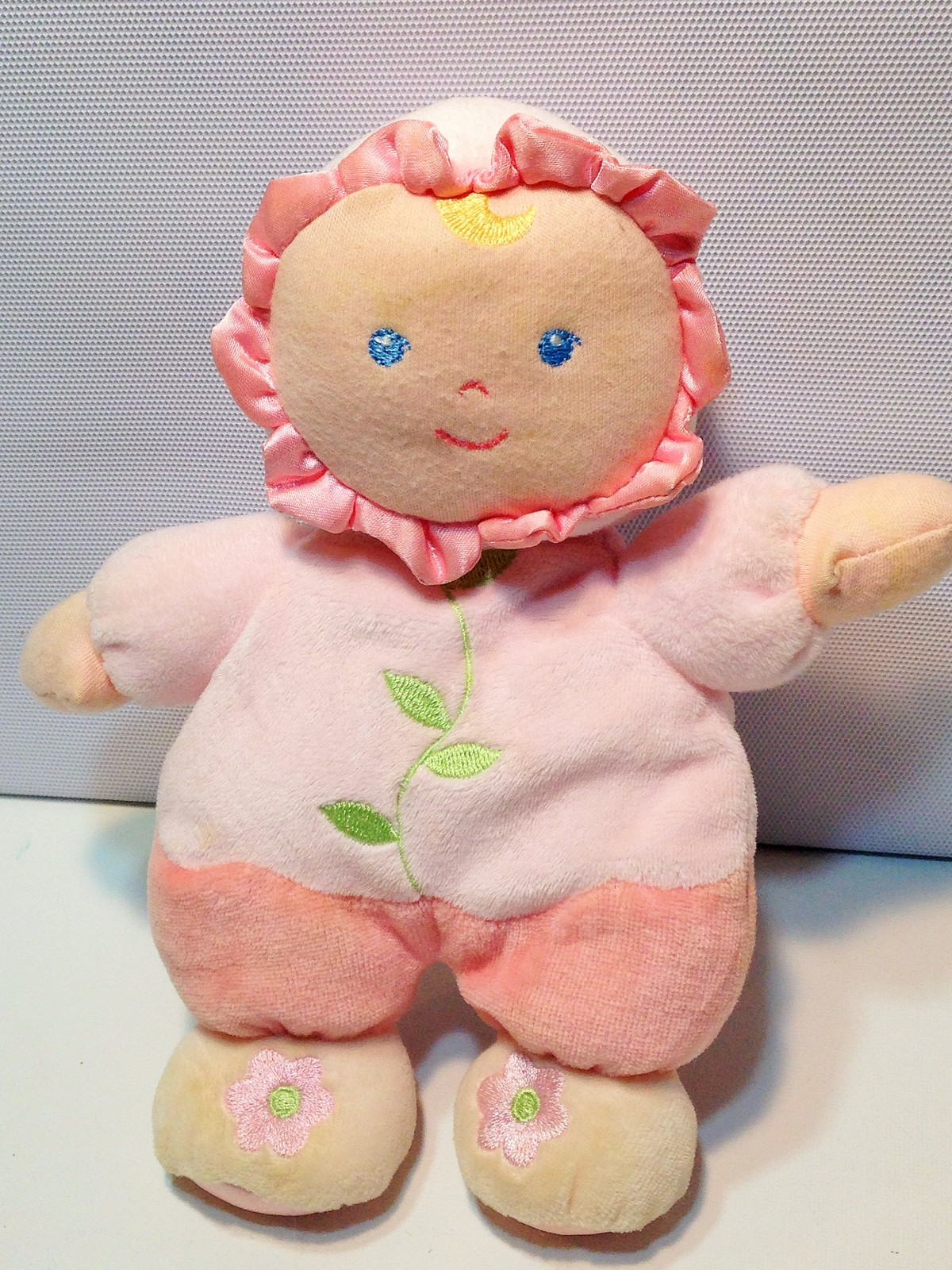 """Pink Baby Doll Plush Rattle Toy Kids Preferred Asthma Allergy Friendly Lovey 8"""""""