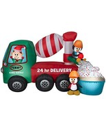 Gemmy 5' Animated Airblown Cement Mixer Scene Christmas Inflatable - $209.95