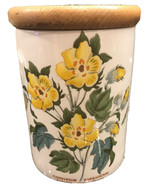 Portmeirion BOTANIC GARDEN BARBADOS COTTON FLOWER STORAGE JAR Canister &... - $22.99