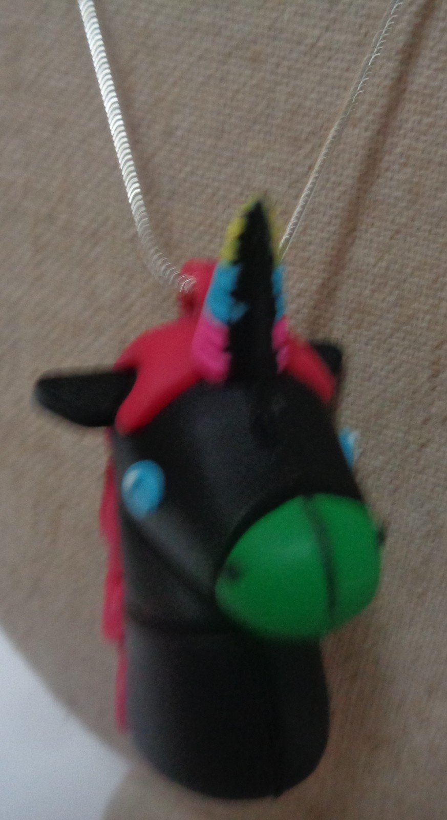 Little Pony Nightmare 16GB Flash Necklace NIP 925 SS Rope Necklace Free Shipping