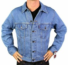 Levi's Men's Premium Classic Cotton Button Up Denim Jean Jacket 705070389 image 1