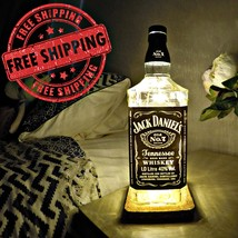 Jack Daniels Whiskey Bottle Lamp, USB & Remote, Birthday Gift, Christmas... - €60,24 EUR