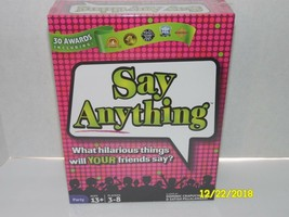 Say Anything Board Game Teen Party Ages 13+ NorthStar Games - $22.26