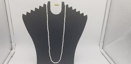 Vintage Rice Pearl Necklace With Gold Tone Box Clasp Petite Size EUC - $9.62