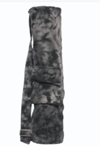 Zippered Tie Dyed Black and Grey Yoga Mat Bag - FREE SHIPPING - $924,98 MXN