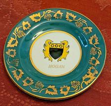 "Arklow Pottery Dublin Historic Families 4"" Plate- Hogan - $1.97"