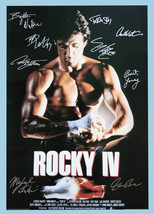 ROCKY IV / ROCKY 4 MOVIE Poster Signed by 9 cast with COA, AUTHENTIC, Ex... - $101.00