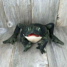 Frog Puppet Plush Folkmanis Toad Full Body Hand Bumpy Green Creative Play Cloth  - $69.29