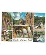 Barcelona Spain Guell Park Multiview Vintage Antoni Gaudi Postcard 4X6 - $4.99