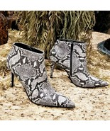 Womens COLIN STUART Snakeskin Embossed Leather Ankle Boot Us Sz 9.5  - $49.95