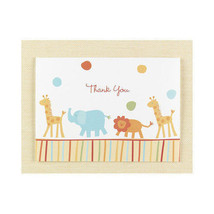 25 Jungle Animal Thank you Cards Baby Shower Thank You Notes Kids Birthday - $13.37