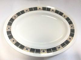 "Wedgwood Black Asia Oval Serving Platter 13 7/8"" R4288 - $24.73"
