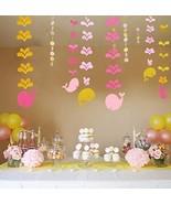 Pink Whale Hanging Paper Decoration 6pcs - Ocean Theme Hanging Paper Par... - $11.07