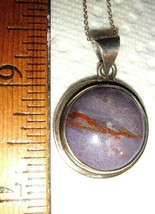 VTG STERLING SILVER RUSSIAN CHAROITE PENDANT NECKLACE DANGLE DROP EARRIN... - $267.99