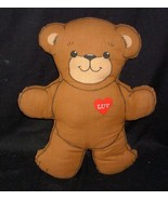 VINTAGE THIS TEDDY BEAR NEEDS A HUG HEART LUV STUFFED ANIMAL PLUSH TOY P... - $15.90