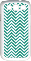 Chevron Teal Blue Designed Samsung Galaxy S3 Case Cover - $13.95