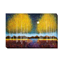 An item in the Art category: Full Moon Panorama by Graves-Brown Gallery-Wrapped Canvas Giclee (16 in x 24 in)