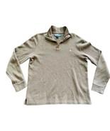 POLO RALPH LAUREN Men's Brown Pullover 1/4 Zip Long Sleeve Pullover Size Medium - $18.32