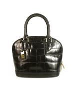 Louis Vuitton Alma BB mini shoulder bag black shinny crocodile leather w... - $3,952.08