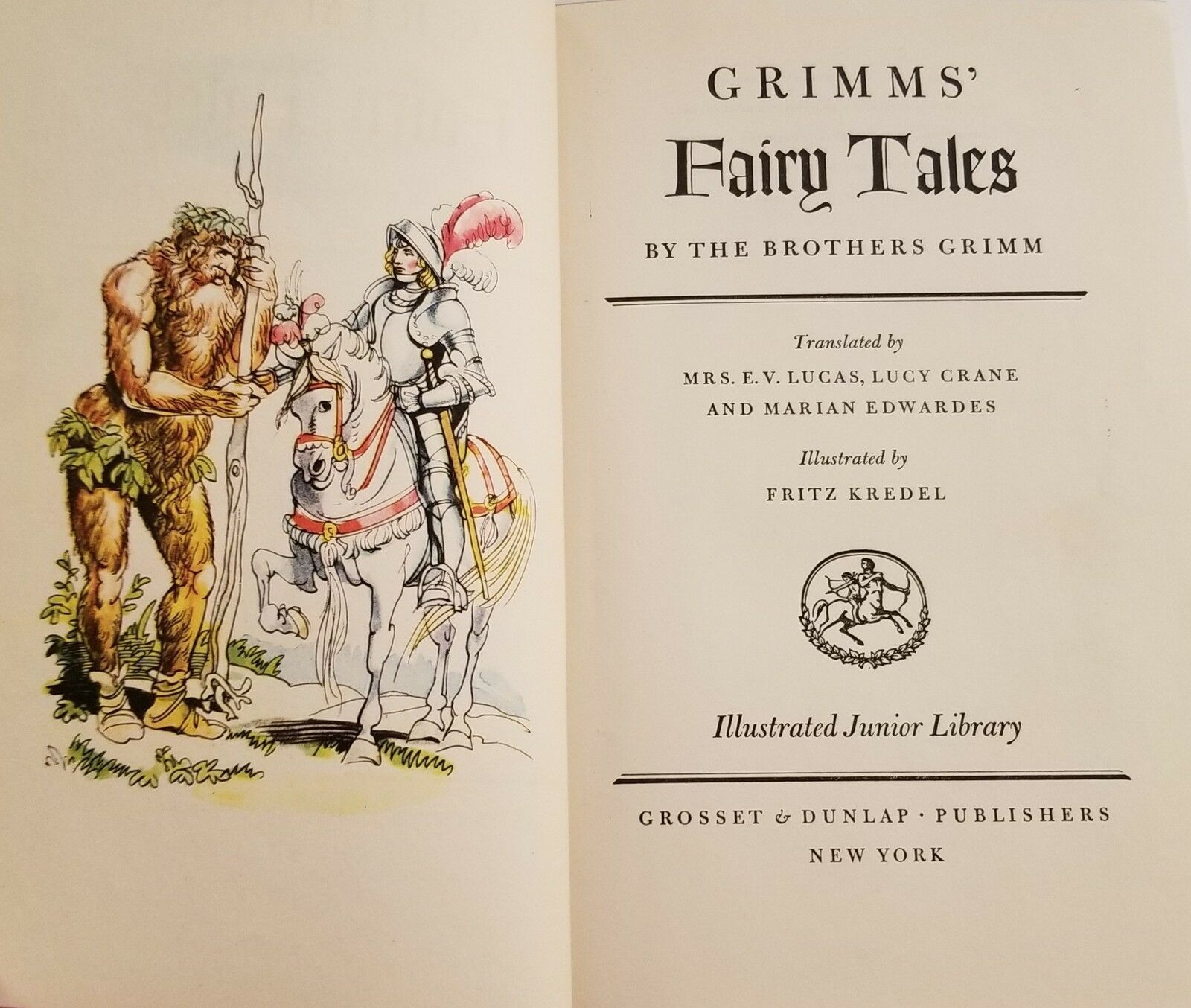 Grimms' Fairy Tales Illustrated Junior Library Fritz Kredel Vintage Hardcover