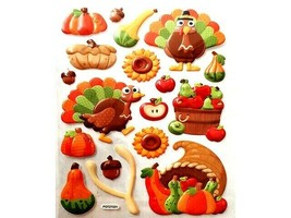 Hobby Lobby Puffy Thanksgiving Icon Stickers, 18 Pieces #5141908