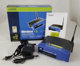 LINKSYS WCG200 Wireless G Cable Gateway Internet Router 2.4GHz WIFI Cisco - $19.99