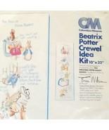 Vintage Columbia-Minerva Crewel Idea Kit #7848 Tale Of Peter Rabbit - $59.39