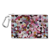 Girly Confetti Canvas Zip Pouch - $15.99+
