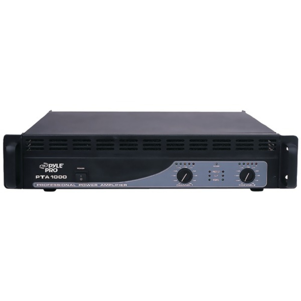 Primary image for Pyle Pro PTA1000 1,000-Watt, 2-Channel Professional Power Amp with Bluetooth