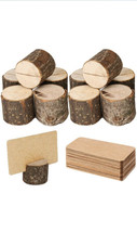 Toncoo Wood Place Card Holders, 10 Card Holders For Weddings And Parties - $17.00