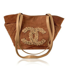 Authentic Chanel Pink Quilted Cotton CC Camellia Large Tote Bag - $1,079.10