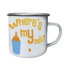 Where is my milk ? Retro,Tin, Enamel 10oz Mug u940e - $13.13