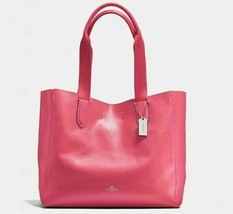NWT Coach F58660 Derby Tote Strawberry Pink Pebble Leather $298 Retail  - $114.99
