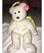 """2000 Ty Beanie Buddy Halo II Large 14"""" Shimmer Angel Bear Gold Wings/Hal... - $11.87"""