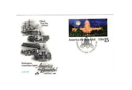 "POSTCARD-""WASHINGTON:US C API Tol""America The Beautiful Series First Day Issue BK7 - $2.94"
