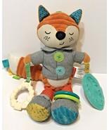 Infantino Playtime Orange Fox Plush Stuffed Baby Toy Rattle Crinkle Teet... - $12.60