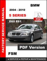 Bmw 5 Series 2004 - 2010 E60 E61 Workshop Service Repair Factory Manual - $14.95