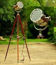 British Studio Searchlight Brown Tripod Floor Lamp By NauticalMart  - $199.00