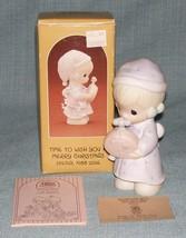 Precious Moments 1988 Time To Wish You A Merry Christmas Figurine 115339 Euc Box - $6.95
