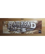 Railroad Tycoon 3 Gamestop store promo double sided sign from 2003 - $20.00