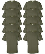 Gildan mens Ultra Cotton 6 oz. T-ShirtG200-MILITARY GREEN-2XL-10PK - $53.77