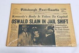 ORIGINAL November 25 1963 Pgh Post Gazette JFK Oswald Assassination News... - $59.39