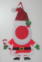 "Christmas Ornament "" Santa Claus Photo Frame Felt"" - $7.55"