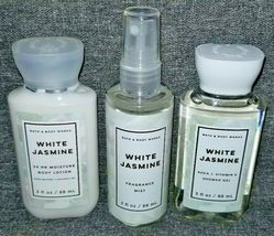 NEW 3-Piece WHITE JASMINE Travel Set Lotion Mist Shower Gel Bath & Body ... - $22.50