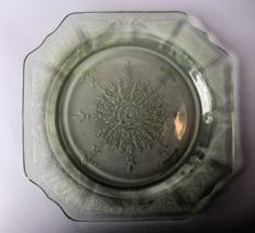 "Hocking Depression Glass Green ""Princess"" Luncheon Plate ca. 1930s - $10.00"