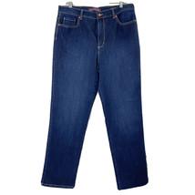 Gloria Vanderbilt Women's size 14 Amanda Jeans Stretch Denim 36 x 31 Dar... - $26.72