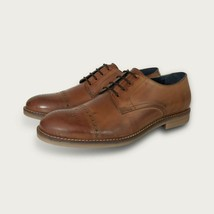Handmade Men's Brown Two Tone Brogues Style Dress/Formal Oxford Shoes image 1