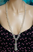 Faux Pearls & Crystals Necklace ~ All Plastic but Fantastic - $19.99